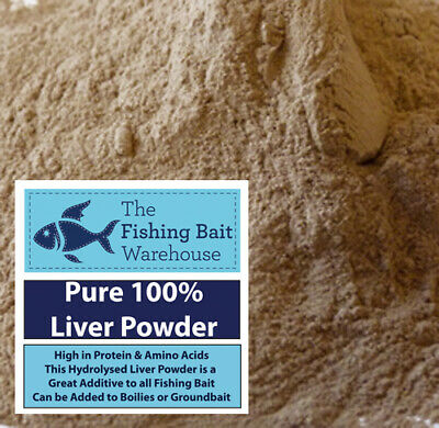 100% Pure Liver Powder 100g - 5kg Fishing Bait, Boilies, Groundbait • 3.99£