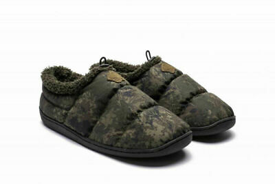 Nash Deluxe Bivvy Slippers - Green Or Camo - All Sizes Available • 29.99£