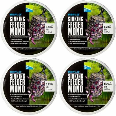 Preston Reflo Super Fast Sinking Feeder Mono 150m Green Fishing Line • 5.90£