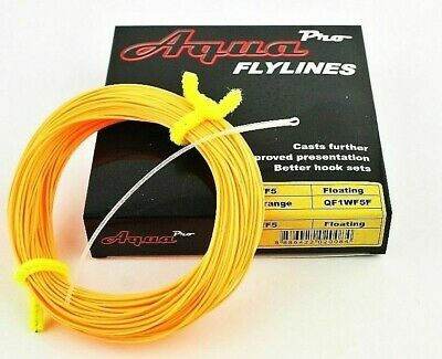 AquaPro WF Or DT, Floating Fly Fishing Line, Plus Free, Braided Loop Connector • 19.99£