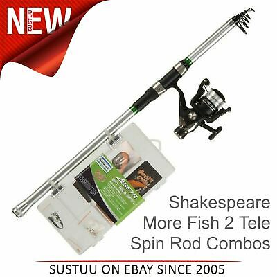 Shakespeare Catch More Fish 2 Telescopic Spinning Rod/ Reel Combos│6ft /7ft/ 8f • 39.38£