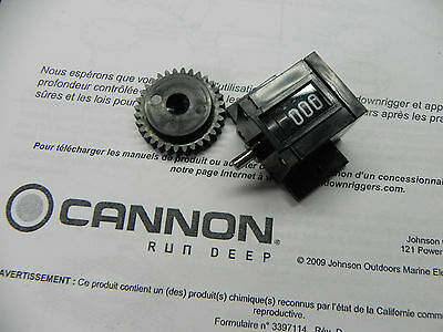 CANNON DOWNRIGGER LINE COUNTER Part 0220477 - DEPTH Meter & DRIVE GEAR 0833561  • 29.81£
