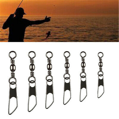 100 Pcs Barrel Rolling Swivels Sea Fishing Tackle Rigs Links Connector All Size • 4.99£