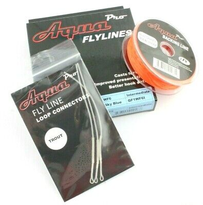 Aqua Pro Fishing Kit, Fly Line, Backing Line, Braided Leader Loops, Connectors • 24.99£