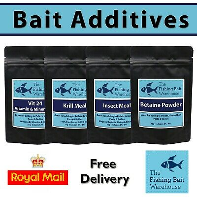 Fishing Bait Powdered Additives - Carp Fishing - Bait Making - Boilies - Krill • 3.99£