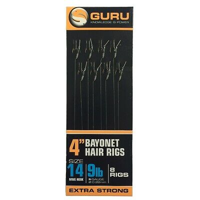 Guru NEW MWG Bayonets 4 Inch Hair Rigs -*Available In All Sizes*- Coarse Fishing • 2.75£