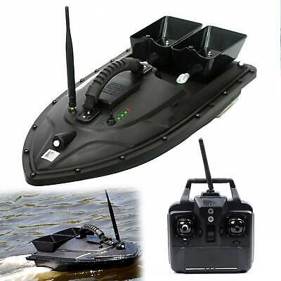 RC Fishing Bait Boat 2 Motors Fish Finder 500M Wireless Single Hand Control New • 100.79£