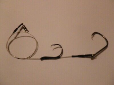 3 150lb  WIRE PENNEL CONGER-TOPE TRACE/RIGS 10/0- 8/0 Or 6/0 HOOK 4/0 BACK HOOK • 4.50£