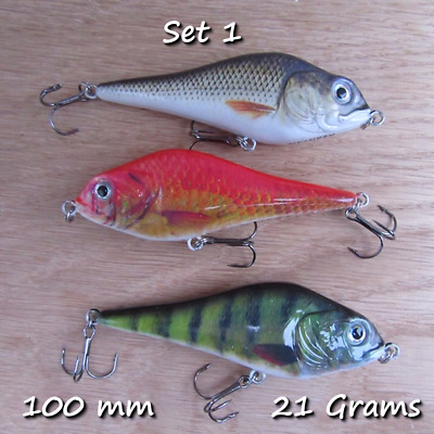 3 Genuine Realscale Slider Swimbaits Rattle Pike Perch Bait Lure Uk Best Seller  • 9.99£