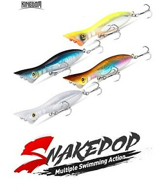 Kingdom Surface Popper Lure For Bass Pollock Mackerel Pike Sea Fishing 115mm 21G • 8.99£
