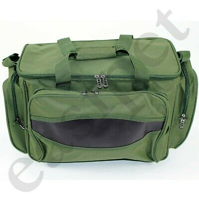 Carp Coarse Fishing Tackle Bag Green Insulated Carryall Holdall Padded Easipet • 15.99£