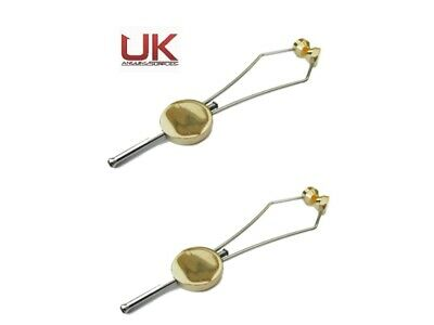 2 X UK Angling Supplies Deluxe Ceramic Fly Tying Brass Thumb Bobbin Holder Tool • 7.25£