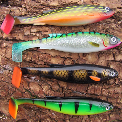 2 BIG 30 GRAMS Cannibal Shads Rubber Savage  Pike Perch Lures Drop Shot Gear ! • 5.99£