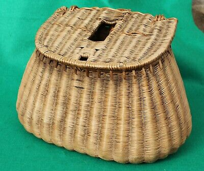 13 X 8  French Read Trout Fishers Vintage Fishing Creel Basket • 49.99£