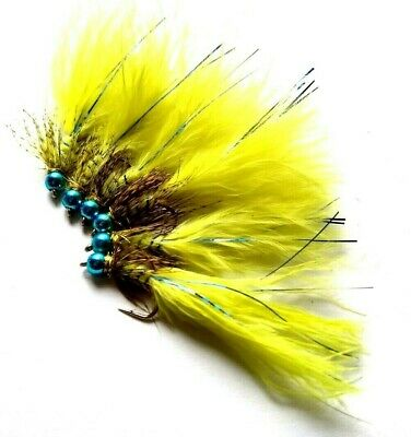 Blue Bead Blue Flash Damsel Nymphs, Lake, Flies, For Rainbow, Brown, Trout, • 2.95£