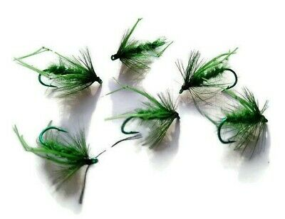 Green Holographic Hoppers Still Water Trout Fly Fishing Dry Flies Terrestrial • 2.95£