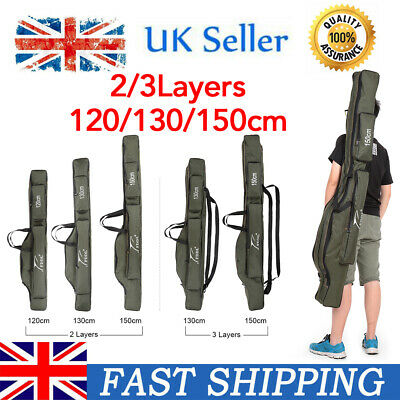 Portable Fishing Rod Carrier Canvas Pole Tool Storage Bag Gear Tackle Bag Z4Y9 • 19.99£