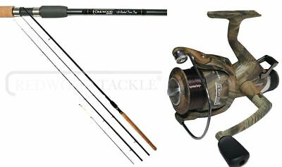 11 Ft Barbel Rod Avon + Quiver Tips + Camo Freespool Reel 060 With Line • 44.50£