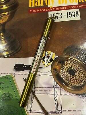 Rare Vintage Hardy Brass The Anglers Pocket Thermometer  • 55.95£