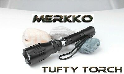 Merkko Tufty Torch®  Carp Fishing Original Red Flashlight LED Rechargeable • 49.99£