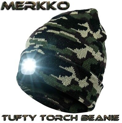 Tufty Torch®  Camo Beanie Head Torch Rechargeable LED Carp Fishing Bivvy Light  • 11.99£