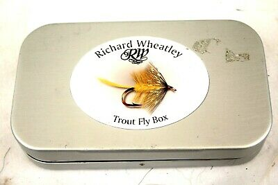 6  X 3.5 Wheatley Fly Fishing Box With 60 Small Double / Treble Salmon Flies . • 69.99£