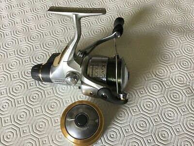Shimano Exage 3000SRB With Spare Spool Fishing Reel Gold Silver Very Good • 16£