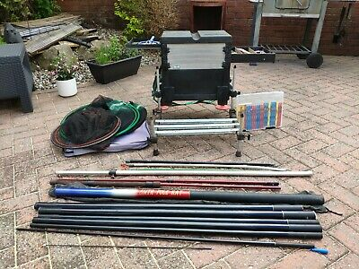 Course Fishing Pole Bundle Set Up Equipment Box Rive Seat Rig Job Lot  • 43£
