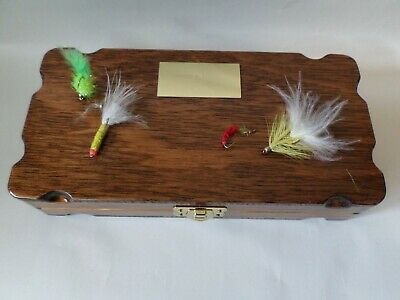Hand Crafted Wooden Fly Box 8x4 Inches (200x100 Mm) • 4.20£
