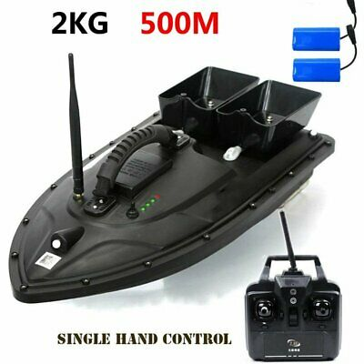 500M Wireless RC Fishing Bait Boat With 2 Motors + 2 Spare Batteries Fish Finder • 118.99£