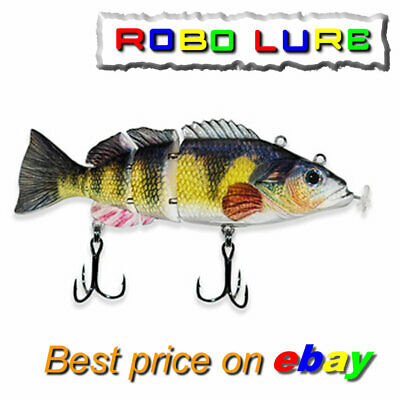 Realscale Rechargeable Jointed BIG BATTERY Robo Lure Live Fish Bait Pike Usb !!! • 19.99£