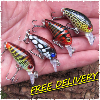 4 Realscale Vivata Mini Slow Sink Fishing Pike Perch Chub Lure Bait Trout Crank • 7.99£