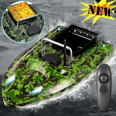 RC Fishing Bait Boat W/ 2 Motors Fish Finder 500M Wireless Single Hand Control N • 85.99£