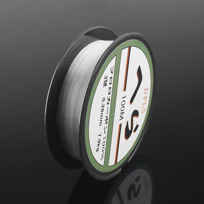 New 100m Crystal Fishing Line Clear Smooth Monofilament Line Spool Pond Lakes-UK • 3.15£