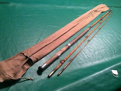 Vintage 3 Piece Coarse Split Cane Fishing Rod By Foster Brothers Of Ashbourne  • 85£