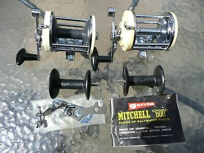 Vintage Garcia Mitchell 600 Sea Fishing Reel X 2 Both In Very Good Condition • 21£