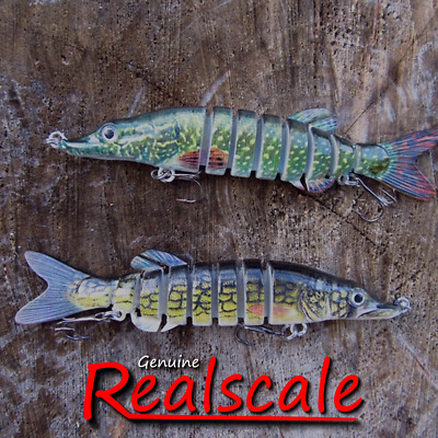 Genuine Realscale Jointed Savage Pike Lures Bait Plug Countdown Swimbaits Gear • 7.99£