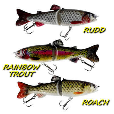 REALSCALE Jointed Hard Savage Swimbait Fishing Pike Perch Gear Lure Plug Bait !! • 6.99£