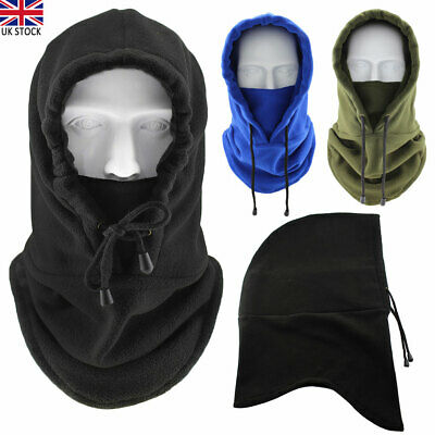 Deluxe Snood With Face Guard Carp Fishing Hunting Warmer Balaclava Hat Outdoor • 8.82£