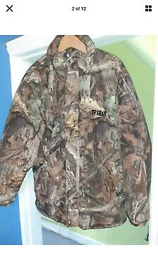 T F Gear Fishing Coat Camouflage Jacket Size Large Including Coat Carrier • 9.99£