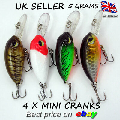 4 Hengjia Savage Mini Floating Crank Perch Trout Chub Pike Baits Gear Chub Lure  • 5.99£