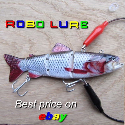 Realscale Rechargeable Jointed Robotic Live Fish Bait Lure Pike Perch Usb Robo ! • 18.99£