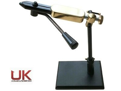 UKAS Rotatable Side Lever Action Fly Tying Vice With Pedestal Base • 29.99£