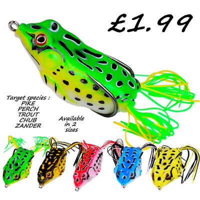 3 Creature Frogs Savage Surface Bait Soft Rubber Lure Pike Chub Trout Candy Gear • 5.99£