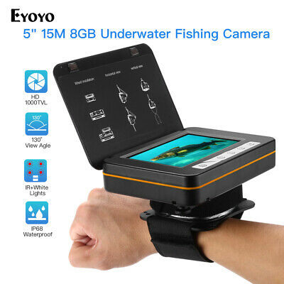 Eyoyo 5  LCD 15M Underwater Video Camera 130° Angle 8GB DVR Recorder Fish Finder • 150.71£