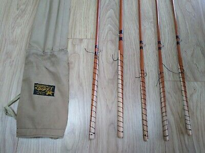J Sharpes Of Aberdeen 12ft Spliced Cane Salmon Fly Rod 5 Pieces Lovely Condition • 230£