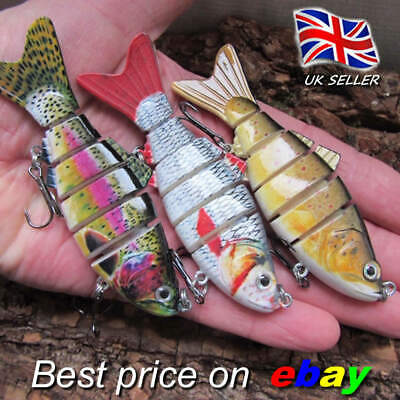 3 X REALSCALE Fishing Savage Swimbait Lures Pike Perch Candy Plug Bait Pike Gear • 9.99£