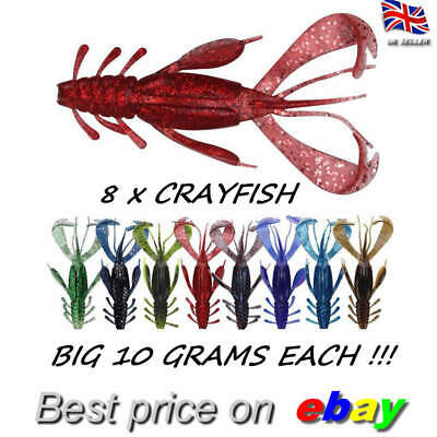 8 Jelly Crayfish Soft Insect Lure Jigging Savage Perch Chub Drop Shot Bait Gear • 5.99£