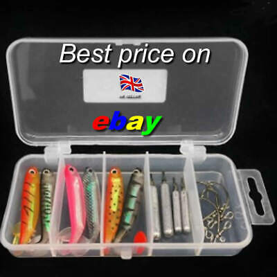 15 Piece Hook Weight Savage Cannibal Shads Perch Pike Lure Baits Drop Shot Gear • 6.99£