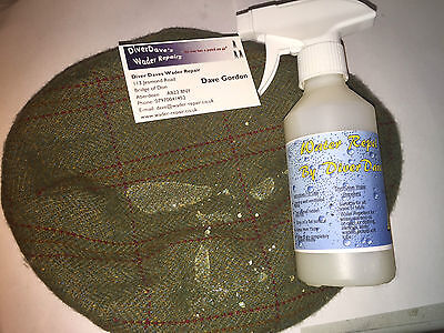 2x250ml Repel By Diver Dave Water Repellent Spray Waders, Horse Blankets, Fabric • 15£